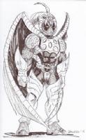 Deadpool in Tiamat Armor by Rob Geronimo (Comic Book Jones Eighth Anniversary 2015), Comic Art