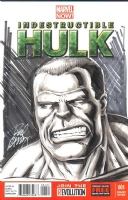 Indestructible Hulk #1: Hulk by Rodney Ramos (New York Comic Book Marketplace/NYCBM 2014), Comic Art