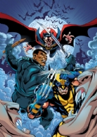 Marvel Heroes Wolverine/Blade/Dracula Cover  UK Comic Art
