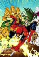 Spiderman & the Sinister Six Comic Art