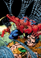 Spiderman Spiderwoman Kraven Cover Comic Art