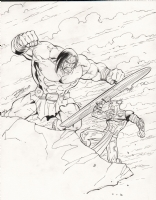 RON LIM'S SILVER SURFER VS. SKAAR Comic Art