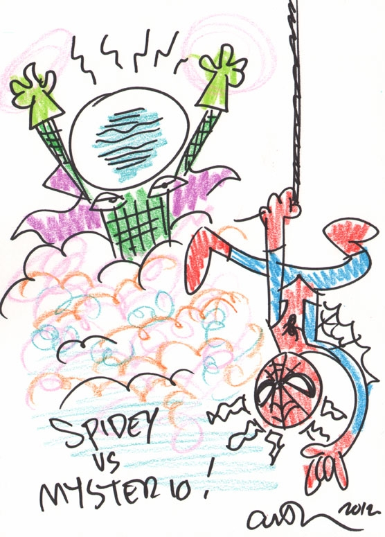 Spider-Man vs. Mysterio - Art Baltazar Comic Art