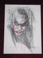 HEATH LEDGER JOKER- BILL SIENKIEWICZ Comic Art