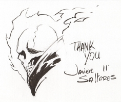 Ghost Rider head sketch Comic Art