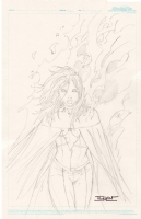 Emma Frost as the Phoenix Comic Art