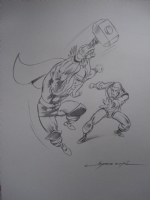 Thor vs Iron Man -Commission Lopez Espi Comic Art