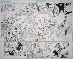 THE FIRST #4 pg. 16 and 17  by BART SEARS Comic Art