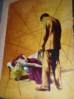 Sexy Robert Maguire Vintage Paperback Painting  Comic Art