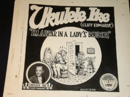 Robert Crumb  Ukelele Ike  Record Album Art Comic Art