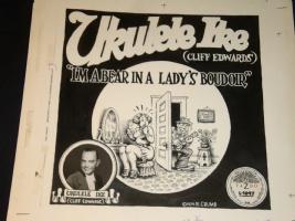 Robert Crumb  Ukelele Ike  Record Album Art Comic Art