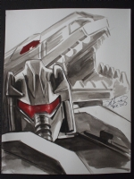 Transformers Grimlock Commission Comic Art