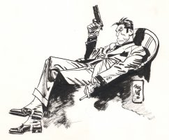 jordi bernet torpedo illustration Comic Art