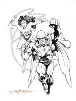 Wonder Woman & Martian Manhunter by Sal Velluto Comic Art