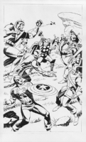 Steve Rude Avengers Commission Comic Art
