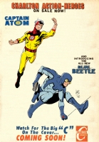 Captain Atom and the Blue Beetle Colored by Gerry Turnbull Comic Art