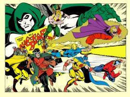 M.C. Wyman Justice Society Commission Colored by Rob Shalda Comic Art