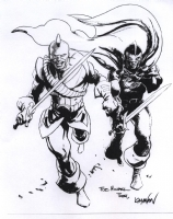 Swordsman and Black Knight by Rafael Kayanan Comic Art