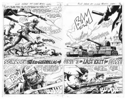 Our Army At War #197 Page # 2-3 by Russ Heath Comic Art