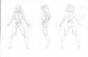 Phoenix--( Toy Biz X-Men-Modelsheet ) by Bart Sears Comic Art