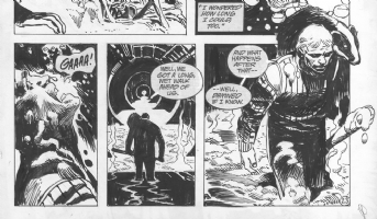 Winter World # 1 Page # 23--(detail)-- by Jorge Zaffino Comic Art