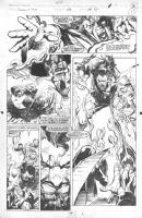 the Uncanny X-Men # 288 pg. 15 by Andy Kubert & Bill Sienkiewicz Comic Art