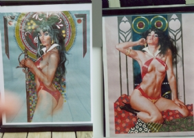 VAMPIRELLA -paintings by Jose ( pepe ) Gonzalez Comic Art