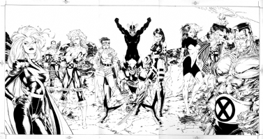 X-Men-(Triptych)- 1991' poster art -(parts 1, 2, & 3)--by Jim Lee & Scott Wiiliams Comic Art