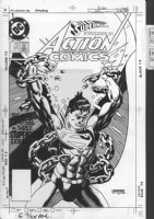 Action Comics #580 Cover-[ stat/ camera ready ] by Gil Kane Comic Art