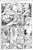 What If  #59 -page # 13 -X-Men/ Wolverine by Bryan Hitch & Joe Rubinstein Comic Art
