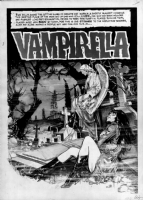 VAMPIRELLA -Issue 12 page 1 by Jose [Pepe] Gonzalez Comic Art