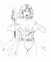 Power Girl surprised - Mark Spears Comic Art