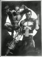 SPIDERMAN-PUNISHER, Comic Art