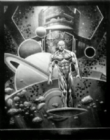 SILVER SURFER AND GALACTUS, Comic Art