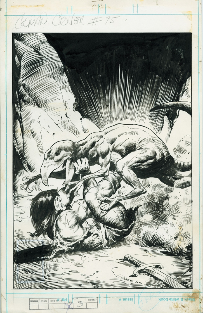 conan the barbarian comic book. Conan the Barbarian # 95 cover