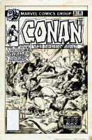 Conan the Barbarian # 91 cover by John BUSCEMA Comic Art
