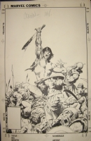 Conan the Barbarian # 171 cover by John BUSCEMA Comic Art