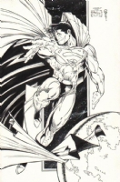 *SOLD* Superman by Todd McFarlane recreation by Marat Mychaels Comic Art