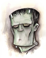 Frankenstein's Monster Comic Art