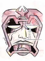 Galactus and Silver Surfer Comic Art