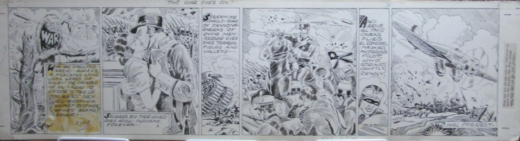 Tailspin Tommy War! Comic Art