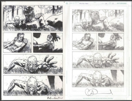 Walking Dead # 128, ... Zombies attack then last Zombie crawling! Comic Art