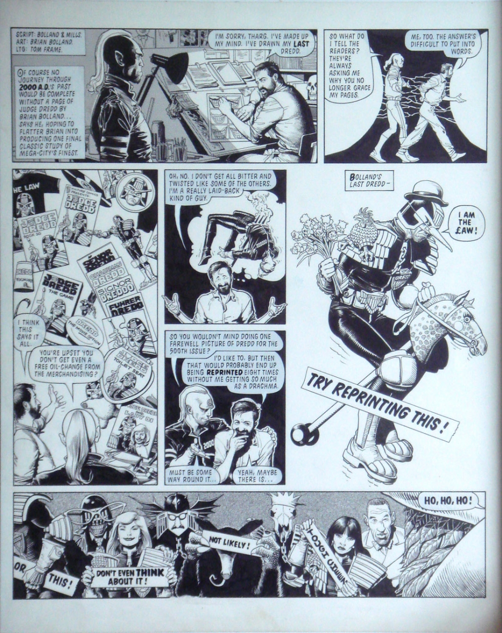 Brian Bolland 2000AD Prog 500!!! Comic Art