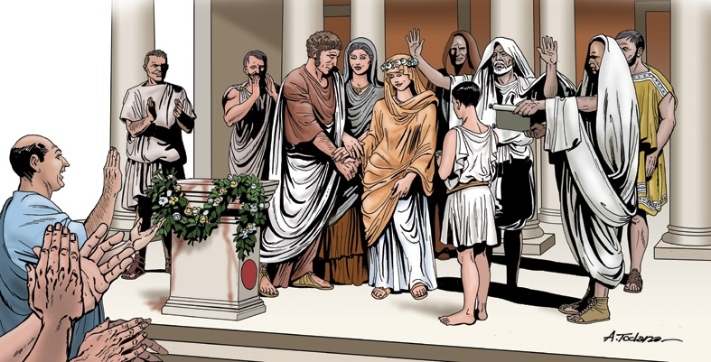 19 –Roman wedding Comic Art