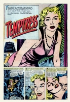 Temptress  (published splash) Comic Art