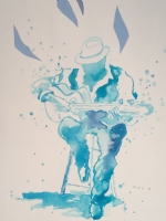 David Mack - Blues player, Comic Art