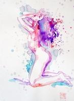 David Mack - painted nude Comic Art