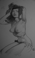Viktor Kalvachev - Bettie Page, Comic Art
