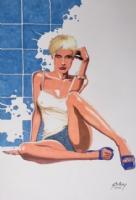 Paul Gulacy - Melissa, Comic Art