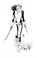 Paul Smith - Kitty Pryde and Lockheed Comic Art